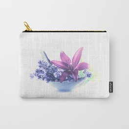 Summer flower pattern lilies and lavender Carry-All Pouch