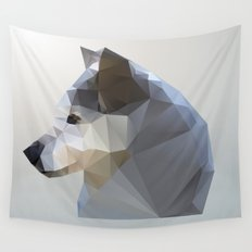 GEO - WINTER FOX Wall Tapestry