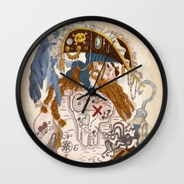 Ginger Pirate Wall Clock