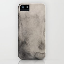 Abstract watercolor #14 - Gray abstraction - Abstract watercolour painting iPhone Case