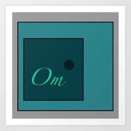 Om Blue Art Print