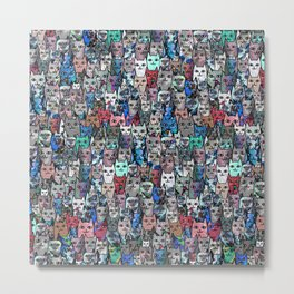 Gemstone Cats RGB Metal Print