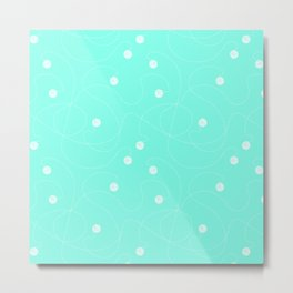 Playful Azul Metal Print