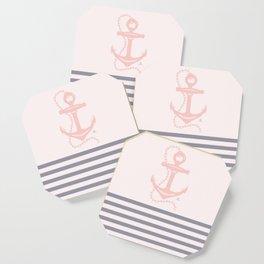 AFE Pink Nautical Anchor  Coaster