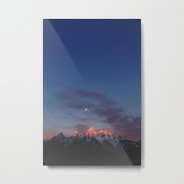 Teton Tips Metal Print