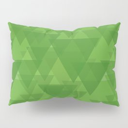 Gentle green triangles in intersection and overlay. Pillow Sham
