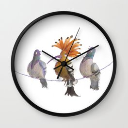 Birds of a Feather...? Wall Clock