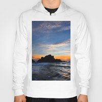 big sur Hoodies featuring Big Sur sunset  by davehare