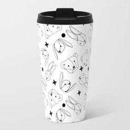 Bears and Bunnies Pattern Travel Mug