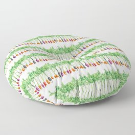 Funky Vegetables Floor Pillow