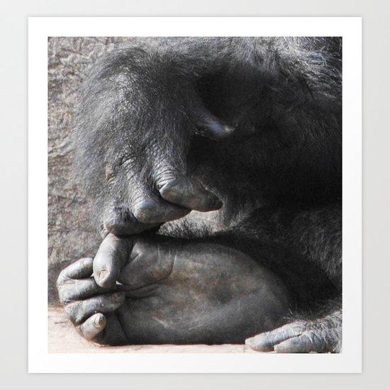 Gorilla Fingers Art Print