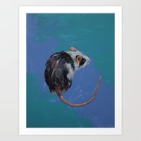 mouse Art Prints featuring Mouse by Michael Creese