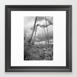 Through the Hills Framed Art Print