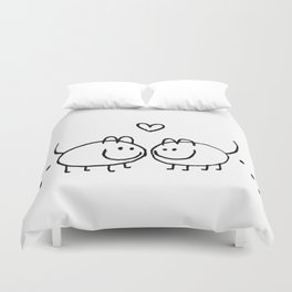 LOVE AND SHIT HAPPENS Duvet Cover