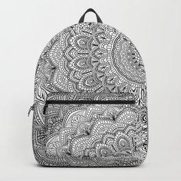 Black and white Lace mandala light Backpack
