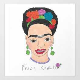 Frida With Braces Art Print