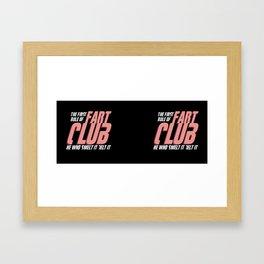 Fart Club Framed Art Print