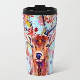 Autumn Herald - Deer Stag Fantasy Painting Travel Mug