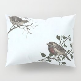 Winter king and Robin companions Pillow Sham