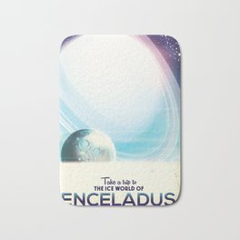 Enceladus Space Corp. Vacation poster Bath Mat