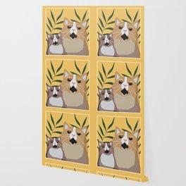 Screaming Cats Wallpaper