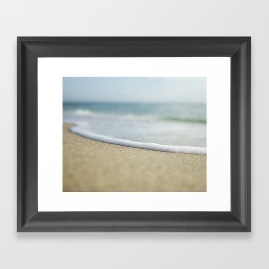 Sea Foam Beach Framed Art Print