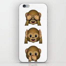 Don't see hear speak iPhone Skin
