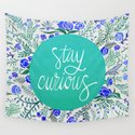 Stay Curious – Navy & Turquoise by catcoq