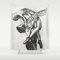 ballet Shower Curtains featuring Ballet by Rosalia Mendoza