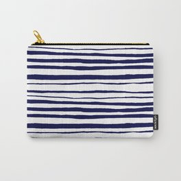 Blue- White- Stripe - Stripes - Marine - Maritime - Navy - Sea - Beach - Summer - Sailor 3 Carry-All Pouch