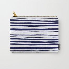 Blue- White- Stripe - Stripes - Marine - Maritime - Navy - Sea - Beach - Summer - Sailor 3 Carry-All Pouch