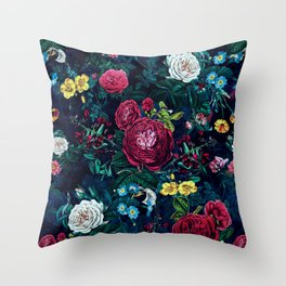 Night in bloom Throw Pillow
