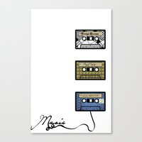 tape Canvas Prints featuring tape by Jeffrey Bourgeois