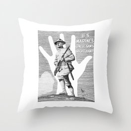 US Marines -- Uncle Sam's Right Hand Throw Pillow