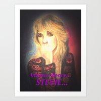 stevie nicks Art Prints featuring Stevie Nicks- Intense Silence by Anne Merritt