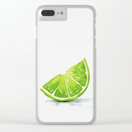Summer Lime Clear iPhone Case