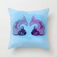 koi Throw Pillows featuring Koi by Nir P