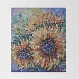 Ah, Sunflower by Lena Owens Throw Blanket
