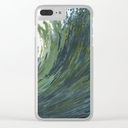 Big Pacific Ocean Wave Clear iPhone Case