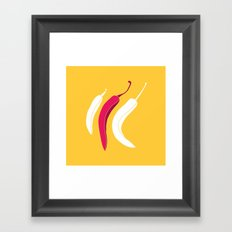 simply chillies // Pop Art Framed Art Print
