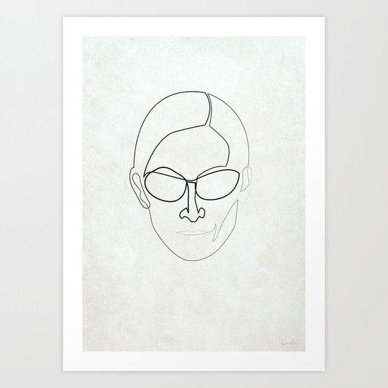 One Line Trinity Art Print