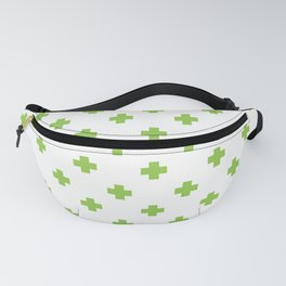 Pea Green Swiss Cross Pattern Fanny Pack