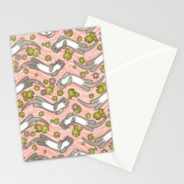 Swimming Otter Girls Stationery Cards