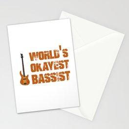 World's Okayest Bassist Stationery Cards