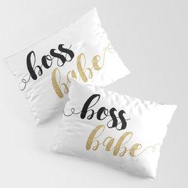 Boss Babe | Gold Glitter Pillow Sham