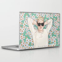 niall Laptop & iPad Skins featuring Niall daisies field by Coconut Wishes