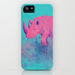 Save the Rhinos iPhone Case