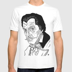 Vincent Price Mens Fitted Tee White MEDIUM