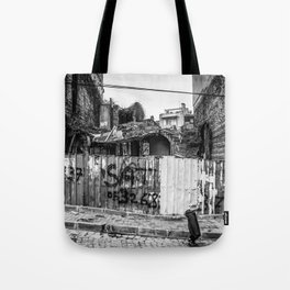 Istanbul : A Fusion of Black and White Tote Bag