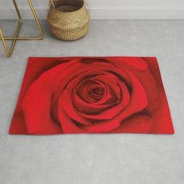 Lovely Red Rose Rug